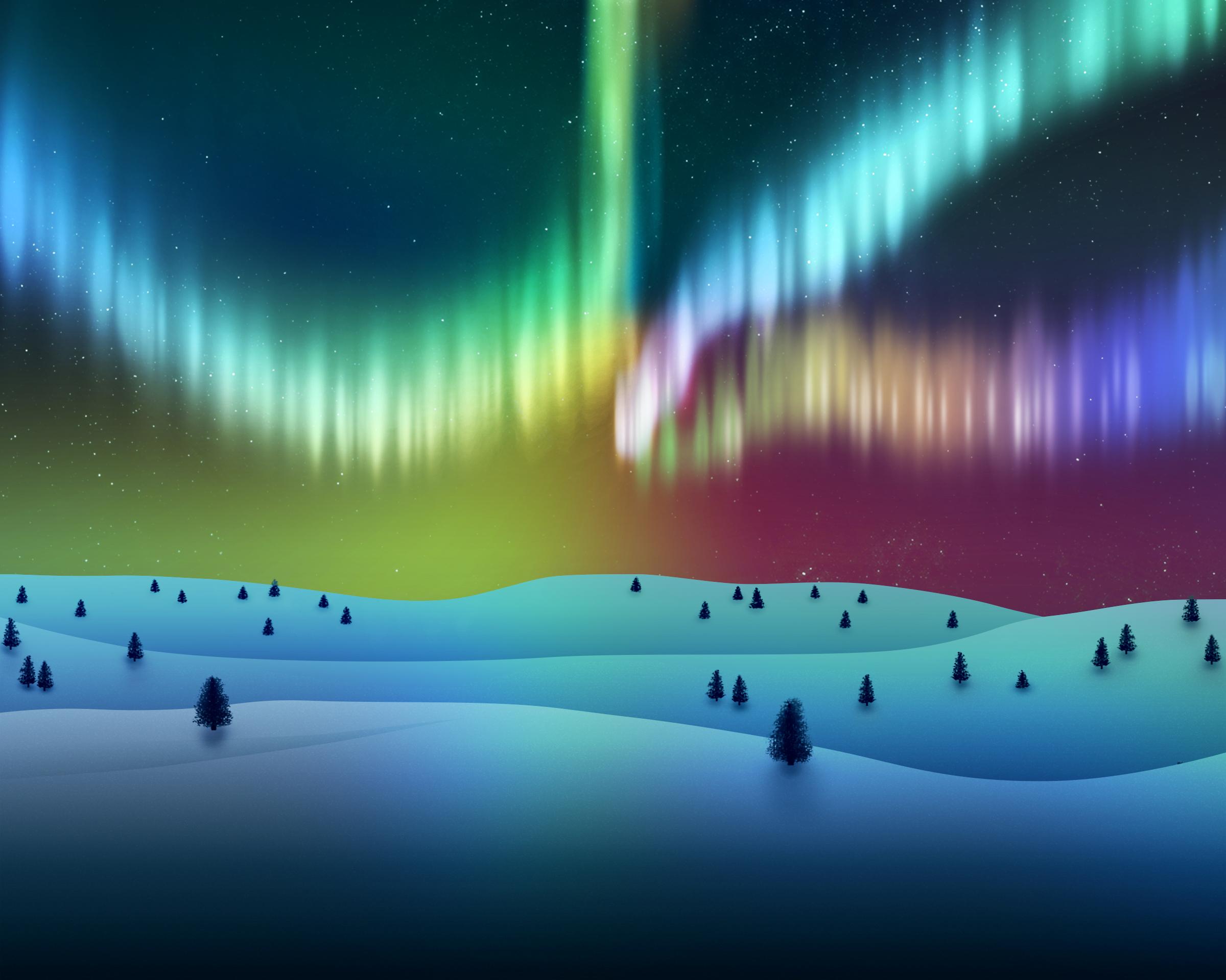 wallpaper aurora